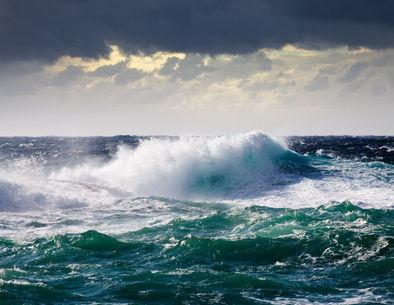 mer démontée durant une tempête