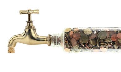 robinet pieces monnaie