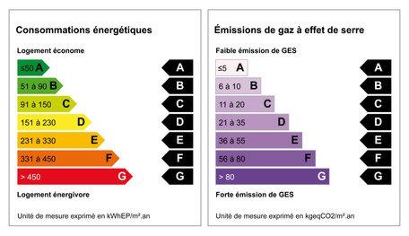etiquettes DPE diagnostic performance energetique