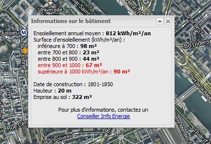 cadastre solaire Paris