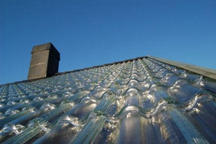 Tuiles transparentes Soltech Energy