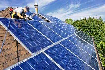 Production d'électricité grâce à des panneaux photovoltaïques
