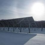Des panneaux solaires à double face