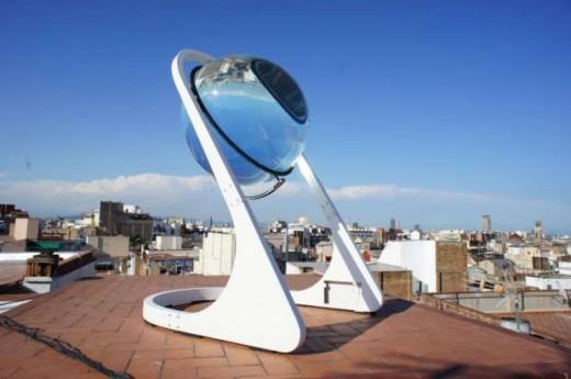Lentilel solaire rawlemon