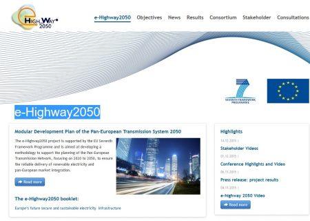 e-highway 2050 - projet d'autoroute électrique