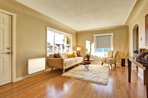 radiateur chaleur douce au mur dans un salon