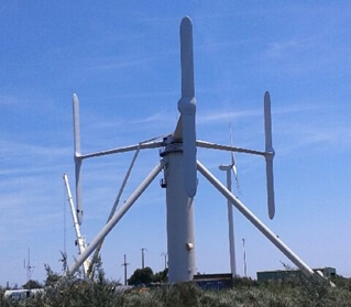 Prototupe éolienne Nenuphar.
