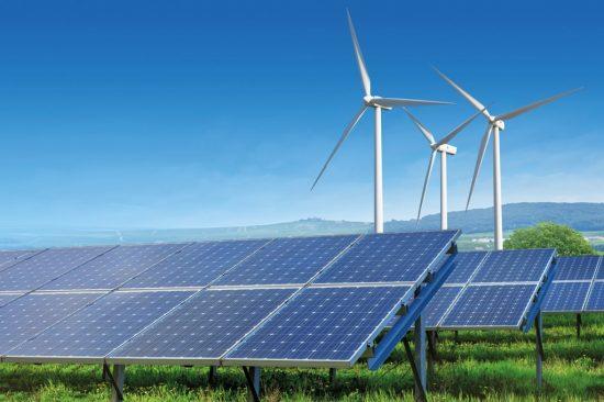 energies renouvelables - panneaux solaires - éoliennes