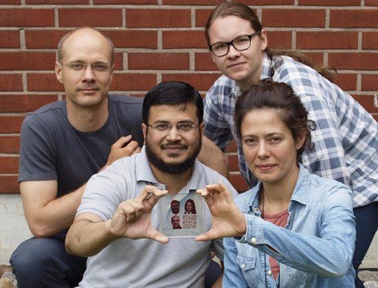 photo imprimee avec encre photovoltaique