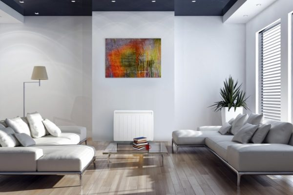 radiateur electrique haut de gamme dans un salon