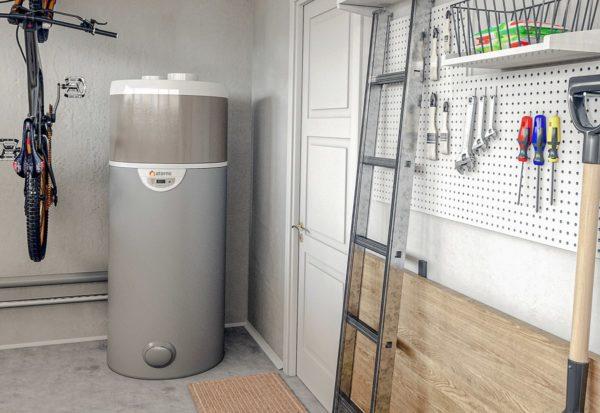 chauffe-eau thermodynamique dans un garage